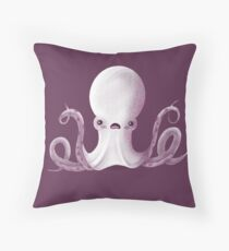 Ghostly Octopus Throw Pillow