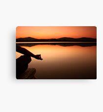 lake yoga! Canvas Print