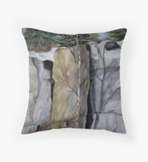 The Three Columns - Pukaskwa National Park, Heron Bay, Ontario Canada Throw Pillow