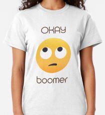 Okay Boomer Rolling Eye Emoji Classic T-Shirt
