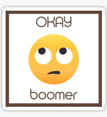 Okay Boomer Rolling Eye Emoji Sticker