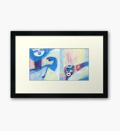 u and o Framed Print