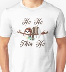 Ho Ho fkin Ho typography text art by Word Fandom - wordfandom Slim Fit T-Shirt
