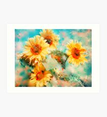 Sunflowers SUPPORT JAPAN EARTHQUAKE AND TSUNAMI RELIEF Art Print