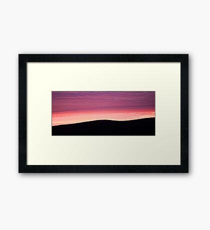 Purple Haze - Baylys Beach sunrise - NZ  Framed Print