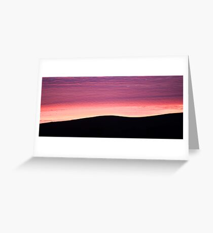Purple Haze - Baylys Beach sunrise - NZ  Greeting Card