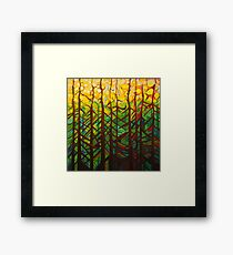 In the pines acrylic on canvas Framed Print