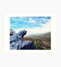 'The Blowing Rock' Art Print