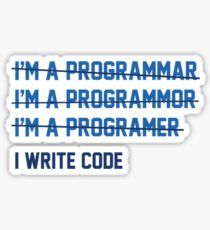 I Write Code Sticker