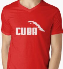 CUBA Men's V-Neck T-Shirt