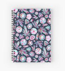 Kaleidoscope Crystals  Spiral Notebook
