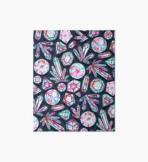 Kaleidoscope Crystals  Art Board Print