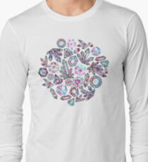 Kaleidoscope Crystals - Grey  Long Sleeve T-Shirt
