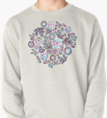 Kaleidoscope Crystals - Grey  Pullover Sweatshirt