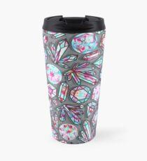 Kaleidoscope Crystals - Grey  Travel Mug