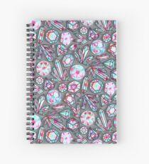 Kaleidoscope Crystals - Grey  Spiral Notebook