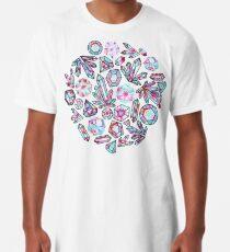 Kaleidoscope Crystals - Grey  Long T-Shirt