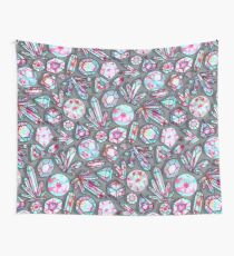 Kaleidoscope Crystals - Grey  Wall Tapestry
