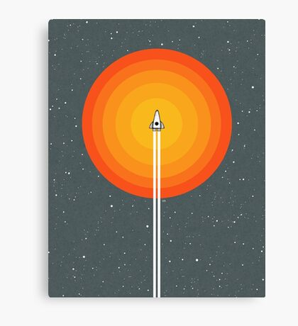 Cruising Past The Sun Canvas Print