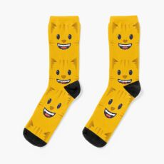 Emoji Cute grinning cat face Sock