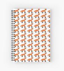Fox Pattern Spiral Notebook