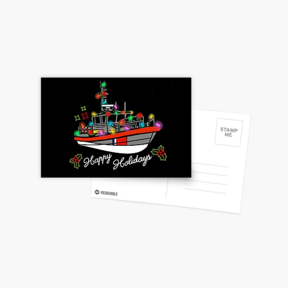 Coast Guard Lighted Boat Parade 45 RB-M Postcard