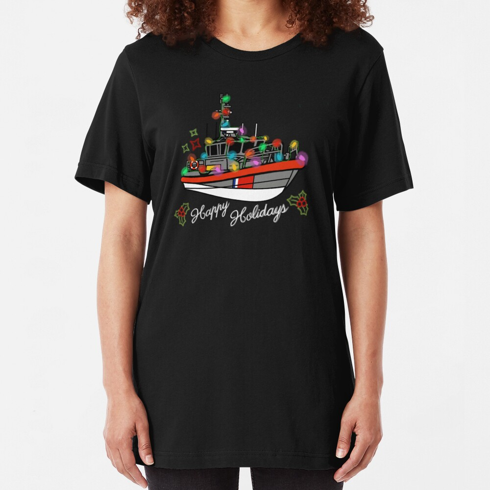Coast Guard Lighted Boat Parade 45 RB-M Slim Fit T-Shirt