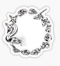 Animal Circle Sticker