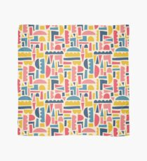 Kids Shapes Collage Blue Pink Yellow Scarf