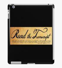 Read The Preamble iPad Case/Skin