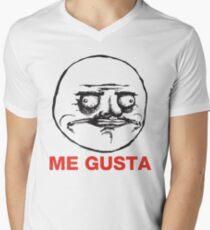 Me Gusta Mens V-Neck T-Shirt