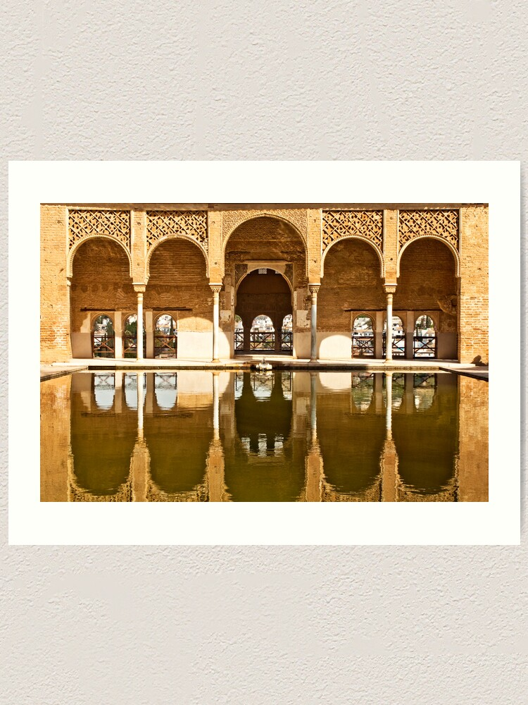 Alternate view of Reflections of the Partal Palace Art Print