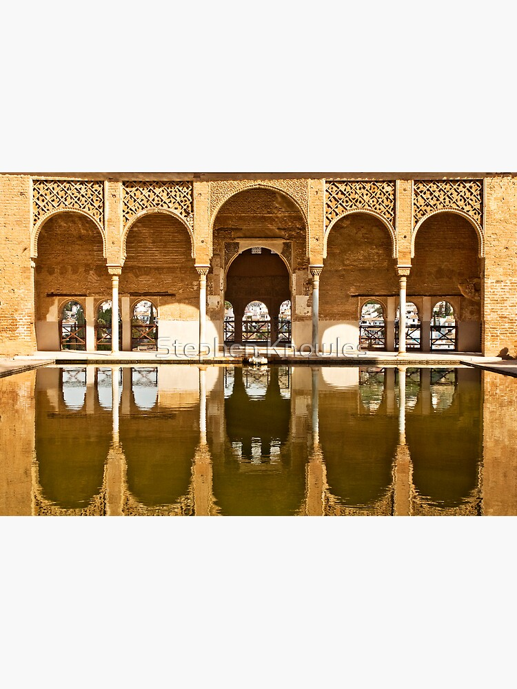 Reflections of the Partal Palace by stephenknowles