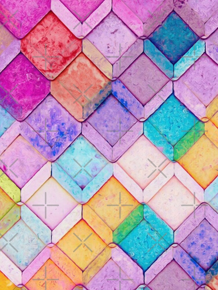 VSCO Colors & Abstract Cubes Pattern by SassyClassyMe