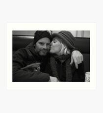 Mama Kissing Papa Art Print