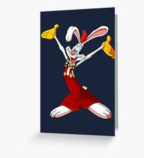 Roger Rabbit Greeting Card