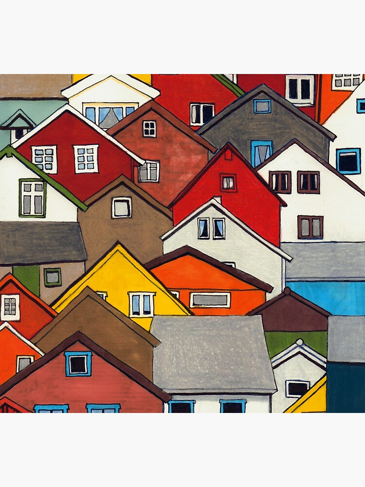 Colourful Houses by ErinNicholls