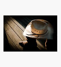 Shrunken Cowboy Photographic Print