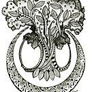 The Hippie Tree, Ink Drawing by Danielle Scott