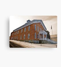 Madison County (Montana) Court House in Sepia Metal Print