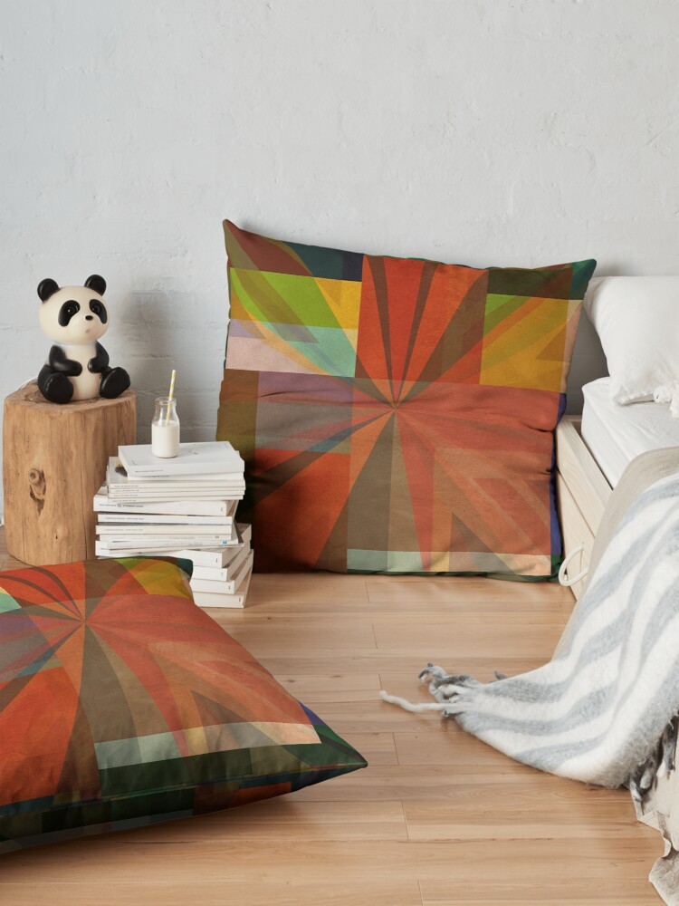 Alternate view of Union Squares Rainbow Nation FIVE Floor Pillow