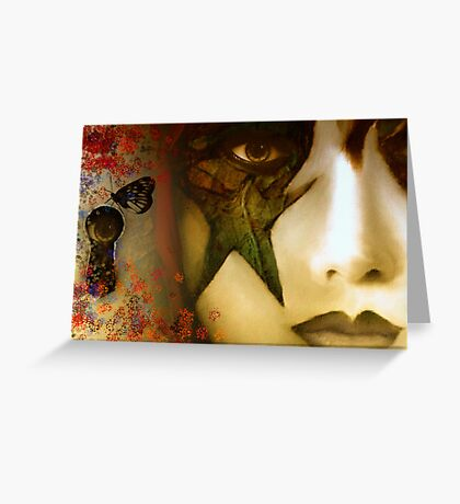 Secrets of My Soul You Will Never Understand...angry red, passion blue, but mostly shades of green Greeting Card