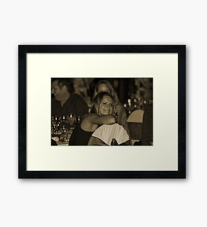 Attentive and Relaxed  Framed Print