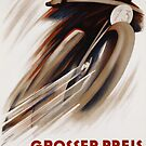 Art Deco Swiss motorcycle advert motor sport by Glimmersmith