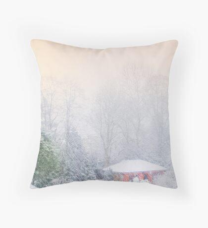 White Christmas Throw Pillow