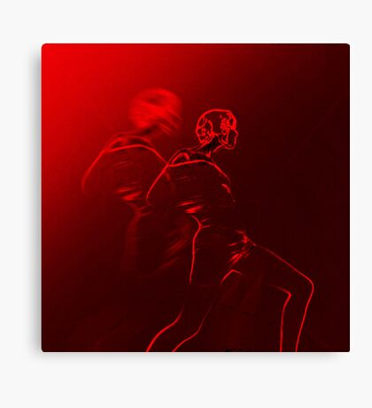 Woman in movement Canvas Print