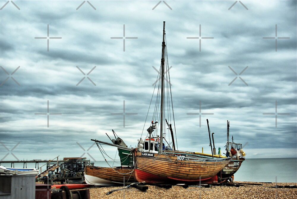 Boats at Deal 2 by Catherine Hamilton-Veal  ©