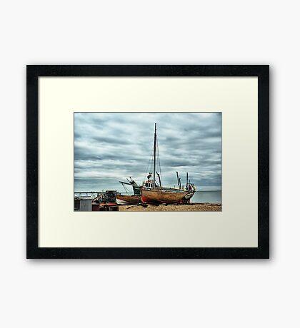 Boats at Deal 2 Framed Print