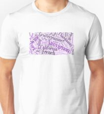 Wine Word Cloud Unisex T-Shirt