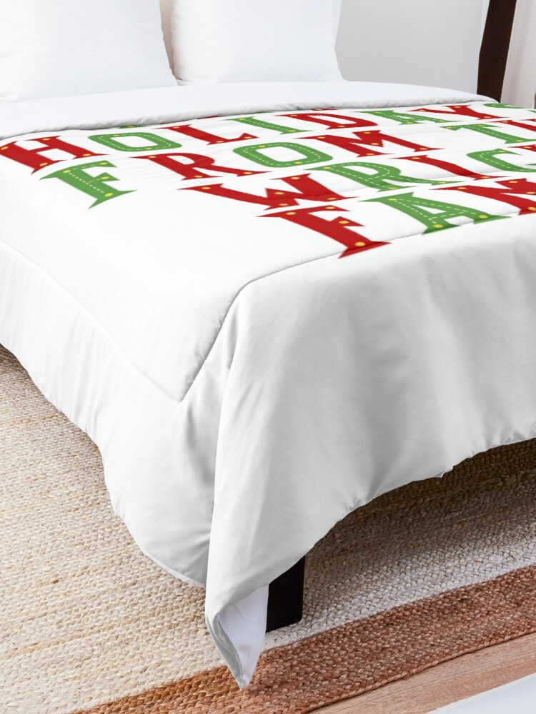 Alternate view of Happy holidays from the Wright family Comforter